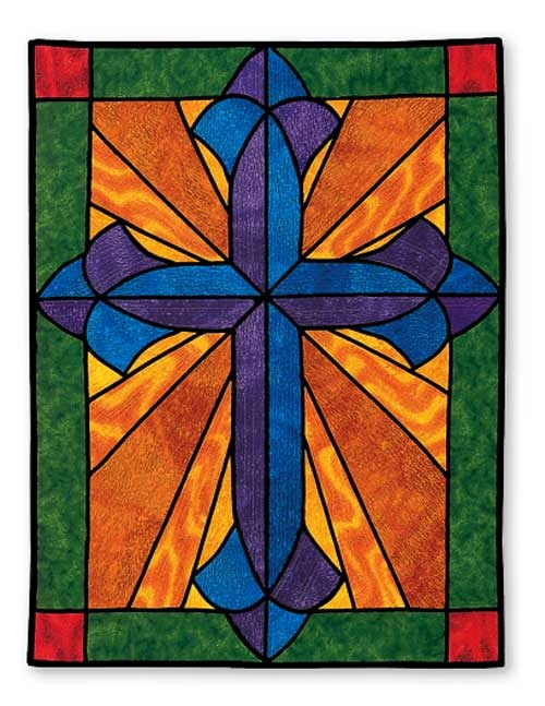 17 best images about stoles and banners on pinterest for Window pane quilt design