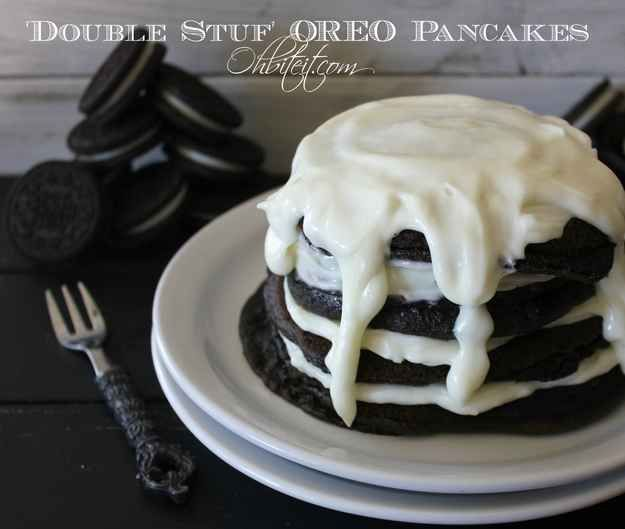 'Double Stuf' Oreo Pancakes | 17 Delicious Recipes That Take Oreos To The Next Level