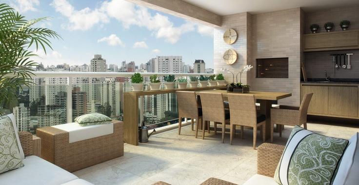 Varanda Gourmet do Apto Condessa São Francisco em SP. São unidades de 194m² com 4 suites, 3 vagas de garagem.    Me procure para maiores informações.    gamalielbroker@gmail.com ou 11-9-7998-8592