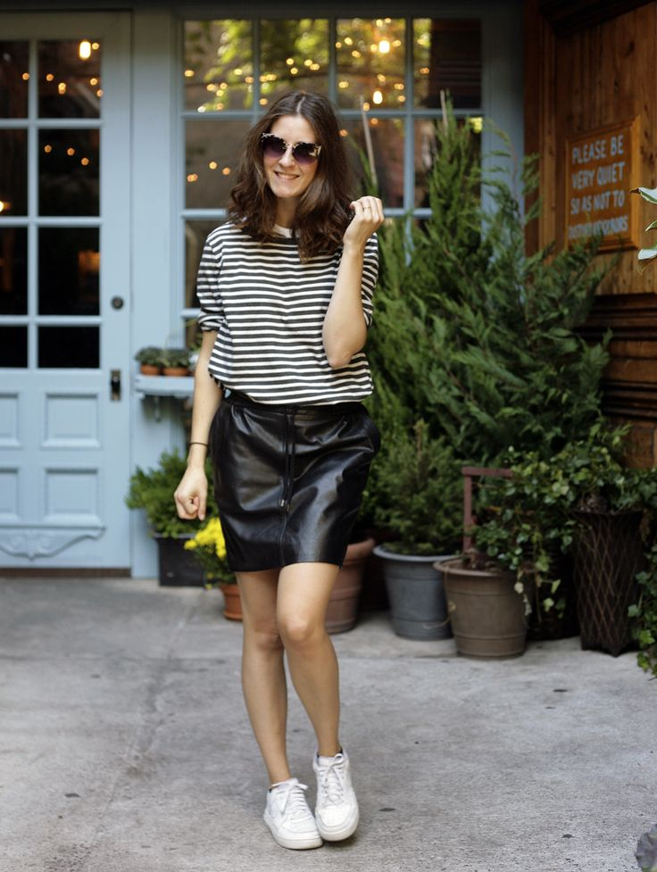 The cool blogger Tine Strange spotted in our Lulla leather skirt. Looking awesome! - Find the skirt here: http://goo.gl/Jp7DZW
