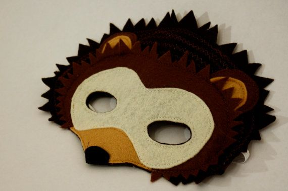 Harry+the+Nocturnal+Hedgehog+Mask+for+Pretend+by+HuntingFaeries,+$20.00