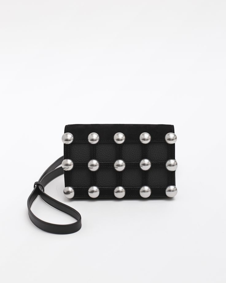 Alexander Wang Double Prisma Studded Biker Purse