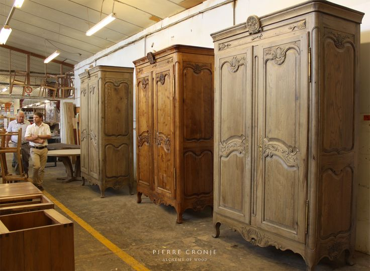 Three Pierre Cronje Versailles Armoire line up in formation for their final inspection before being dispatched to their owners