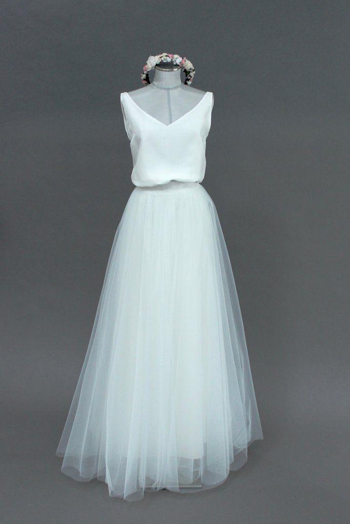 separation shoes d3d7d b08d0 Tüllrock lang, Ivory, im Boho Stil - Lizy   WEDDING dresses ...