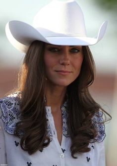 Catherine, Duchess of Cambridge watches a rodeo demonstration at a Government Reception at the BMO Centre in Calgary, Canada, July 7, 2011.