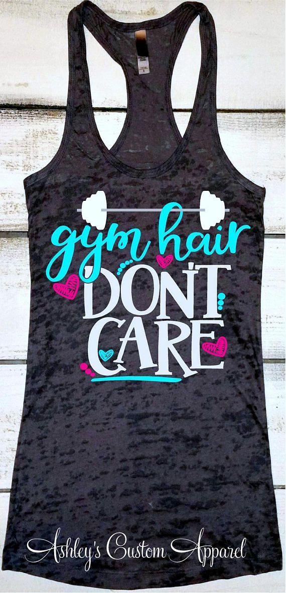 Women's Workout Tank Gym Hair Don't Care Inspirational Fitness Burnout Motivational Fitness Cute Gym Shirts Installing Muscles Workout Tops
