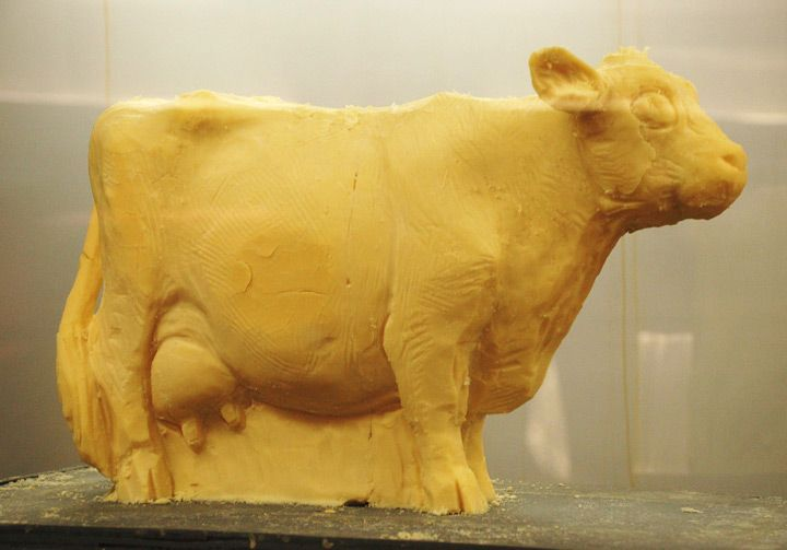 Cheese Cow for Farm Day: Farm, Sculpture, Chocolate, Cheese Paintings, Butter, Cheesy Cow, Cheese Art, Figures