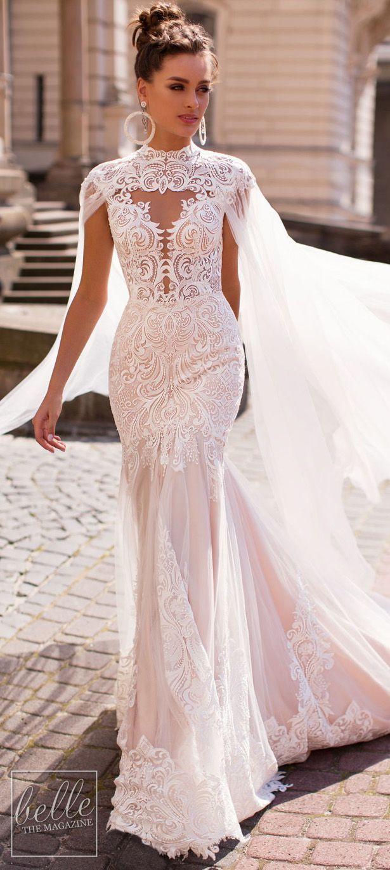 Liretta Wedding Dresses 2019 Belle The Magazine Cape Wedding Dress Wedding Dresses Unique Stunning Wedding Dresses [ 1370 x 615 Pixel ]