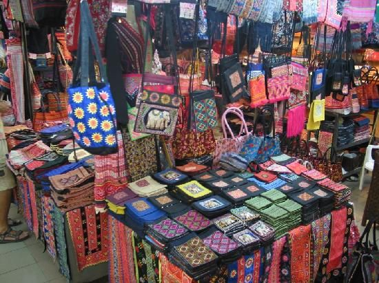 Night Market in Chiang Mai, Thailand. They have great shopping.  I agree with the above post.....love the markets in Thailand & loved Chiang Mai!  V...
