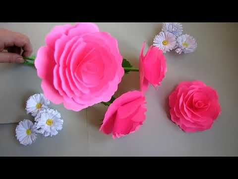 How To Make Beautiful Flower Rose Stic With Paper Making Paper