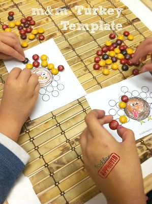 Toddler Approved!: {Thanksgiving Activities} M&M Turkey Template