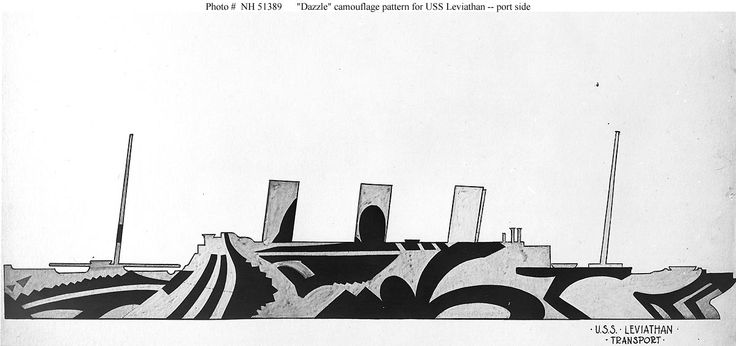 USN Ships--USS Leviathan (ID # 1326) -- Camouflage Views, 1918 (Part II)