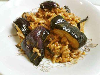 茄子と挽肉の味噌炒めの画像