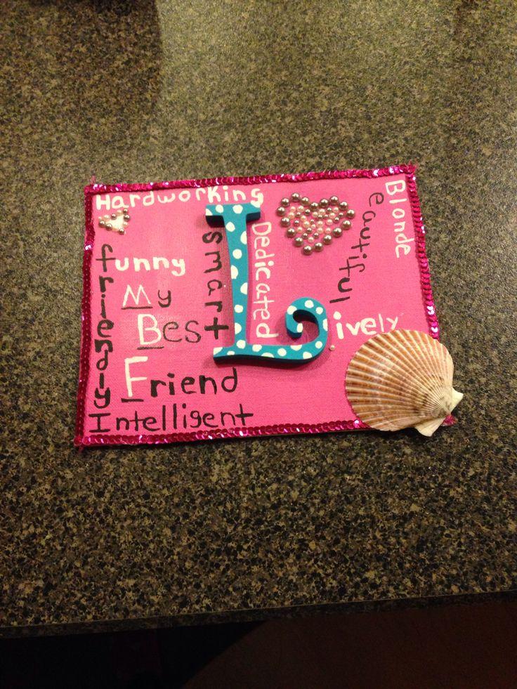 DIY best friend craft! Also a great birthday gift Friend