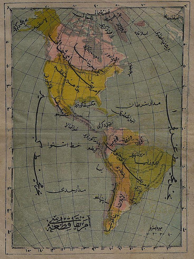 THE AMERICAS RARE ARABIC MAP Maphouse