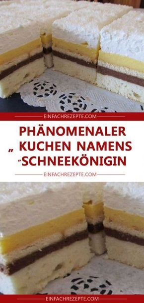 "Phänomenaler Kuchen namens ""Schneekönigin"""