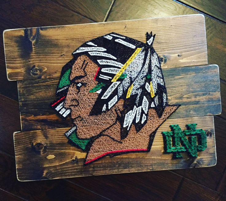 North Dakota Fighting Sioux String Art ND by StringsAttachedKY on Etsy https://www.etsy.com/listing/488871192/north-dakota-fighting-sioux-string-art