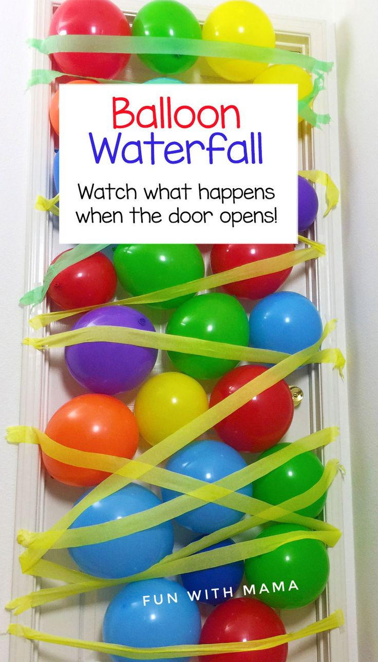 Watch this DIY Video to make a birthday balloon avalanche for your child's birthday morning or spouse. Fill the door or ceiling with balloons and streamers and watch the fun unfold as your child opens the door with a happy smile.