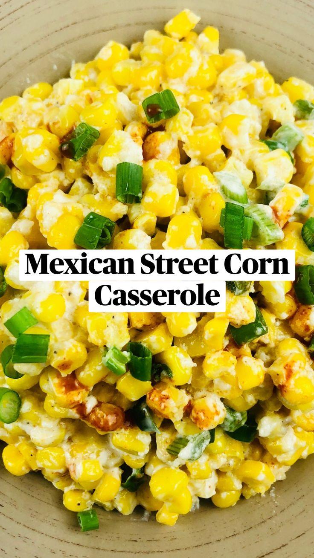 Corn Recipes, Side Dish Recipes, Dinner Recipes, Corn Casserole, Casserole Recipes, Mexican Dishes, Mexican Food Recipes, Vegetarian Cooking, Cooking Recipes
