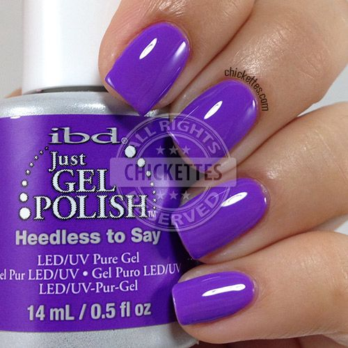 ibd Just Gel Polish - Heedless to Say - swatch by Chickettes.com