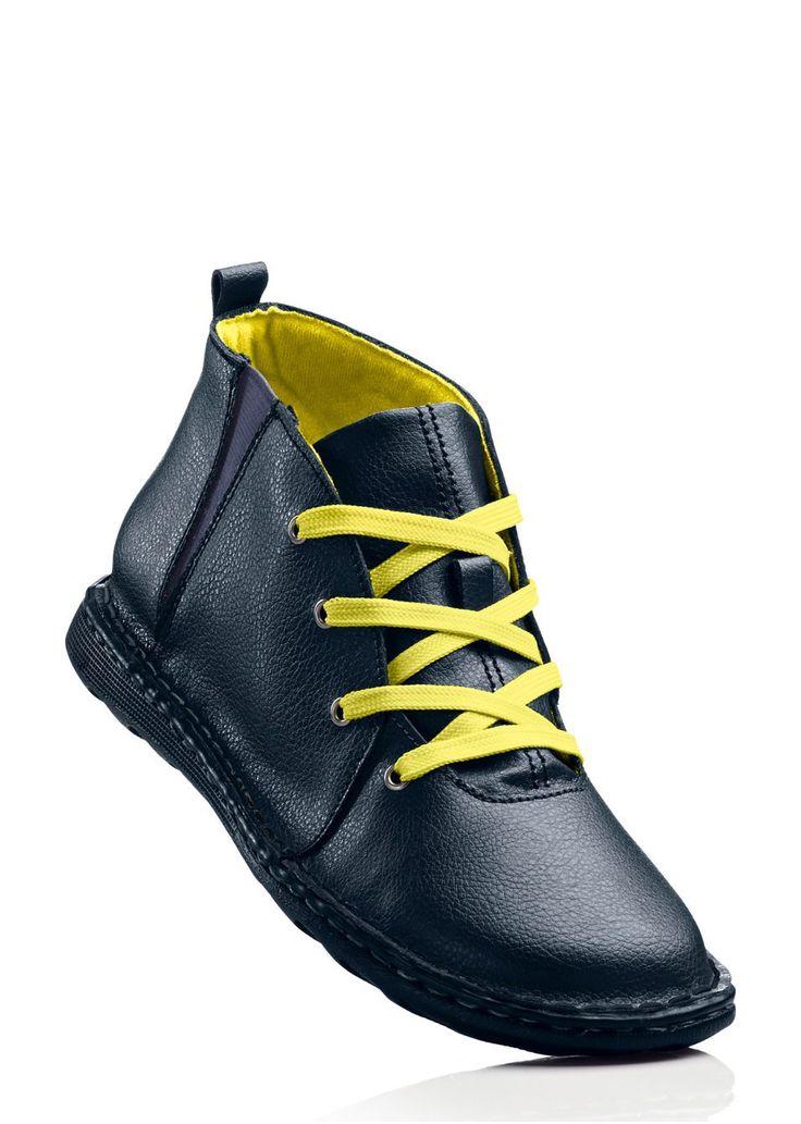 Magas szárú bőrcipő Kényelmes és • 9999.0 Ft • bonprix