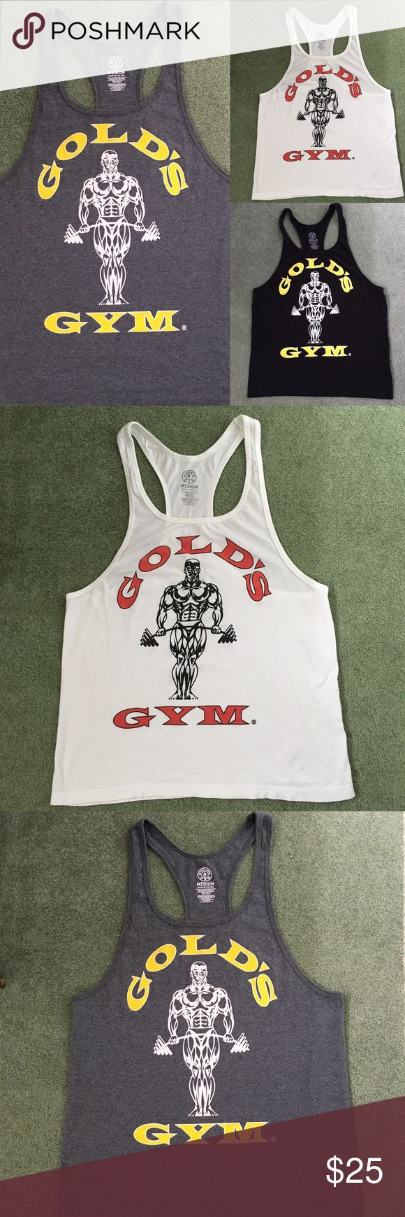 Golds Gym Tank Bundle 3 for $25 price is firm  Men's size medium tanks  Perfect condition! Golds Gym Shirts Tank Tops