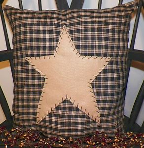primitive rustic country decor | Pillow Cover Barn Star Primitive Country Rustic Home Decor Americana