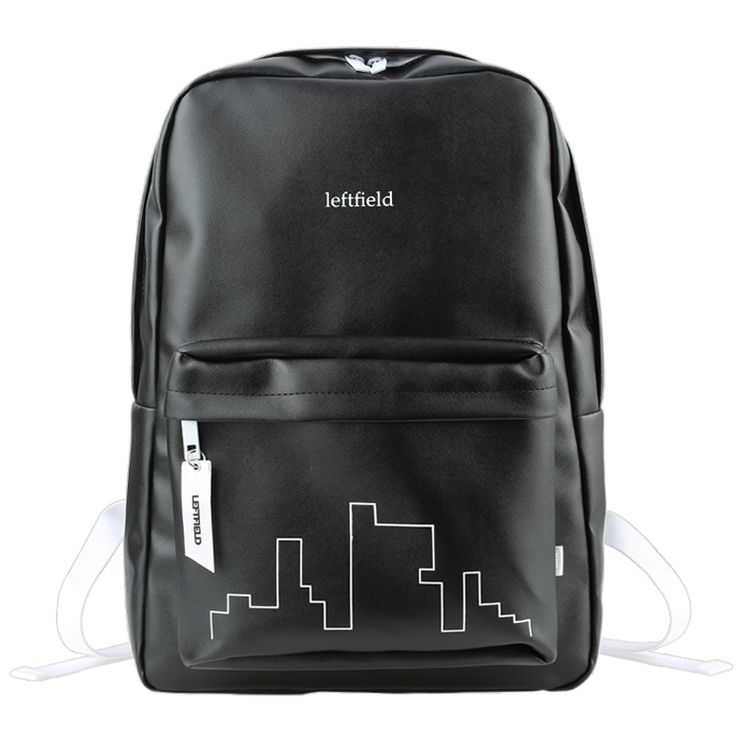 LEFTFIELD Mens School Bag -S. Korea College Campus Book Backpack, Front zip pockets, A wide and simple internal storage space