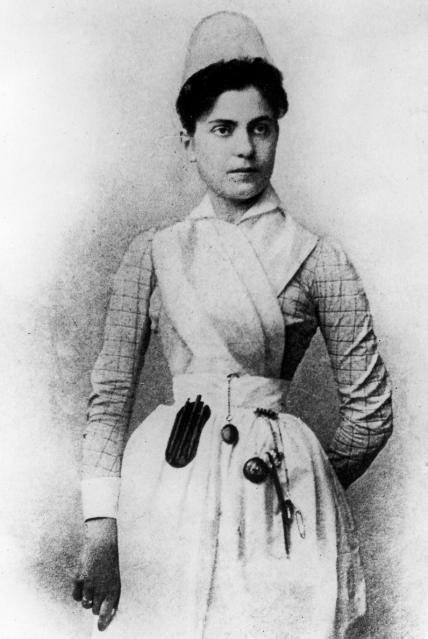 Lilian Wald, founder of the Visiting Nurse Service of New York. For more historical photographs, see https://www.facebook.com/media/set/?set=a.447468683338.240730.99588788338