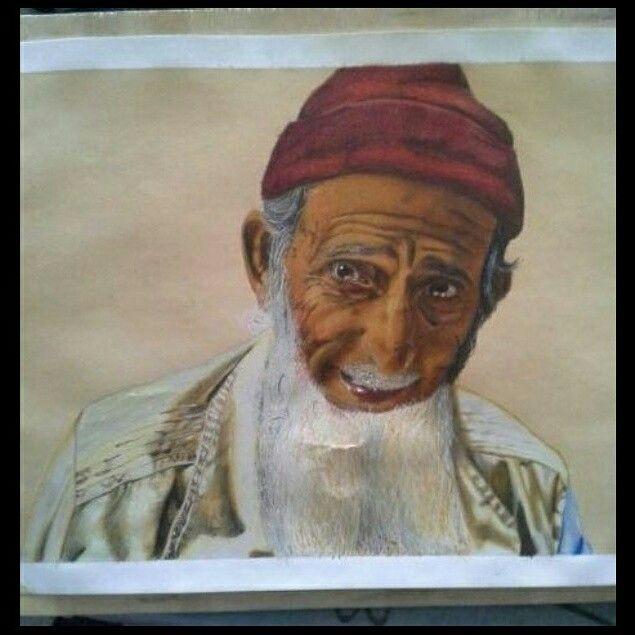 Elder #carand'ache#pastels#11hours#workhard#expressiveness