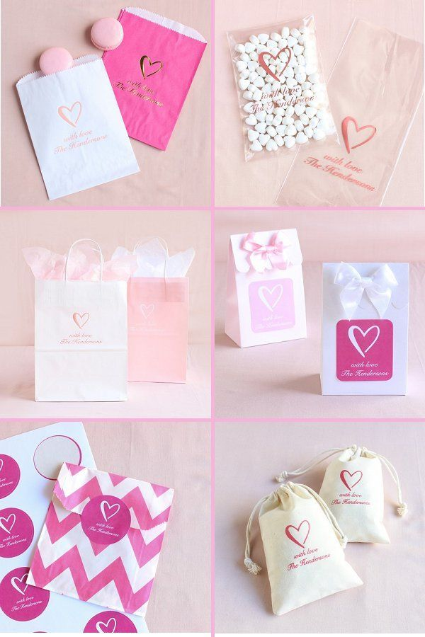 Classic Heart Wedding Theme Elegant Wedding Ideas Heart Themed Wedding Wedding Favor Bags Themed Wedding Favors