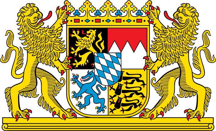 Coat of arms of Bavaria - Brasões da Alemanha – Wikipédia, a enciclopédia livre