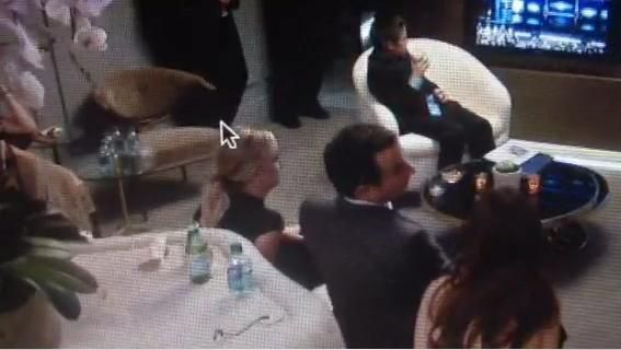 Amy Poehler and Will Arnett sat together backstage at the Emmys.