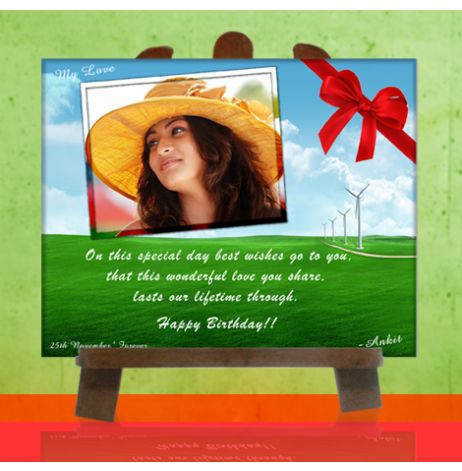 Tied ribbons offers you a photo birthday gifts in a affordable price. so make a day of your dear more precious and wonderful.