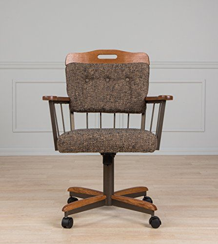 Dining Room Caster Chair With Arms Farmhouse