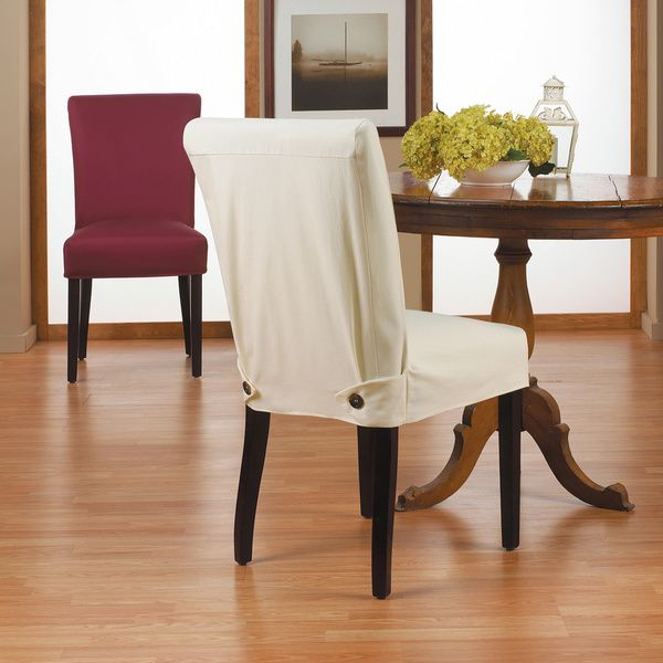 White Dining Room Chair Slipcovers: QuickCover Duck Short Relaxed Fit Dining Chair Slipcover
