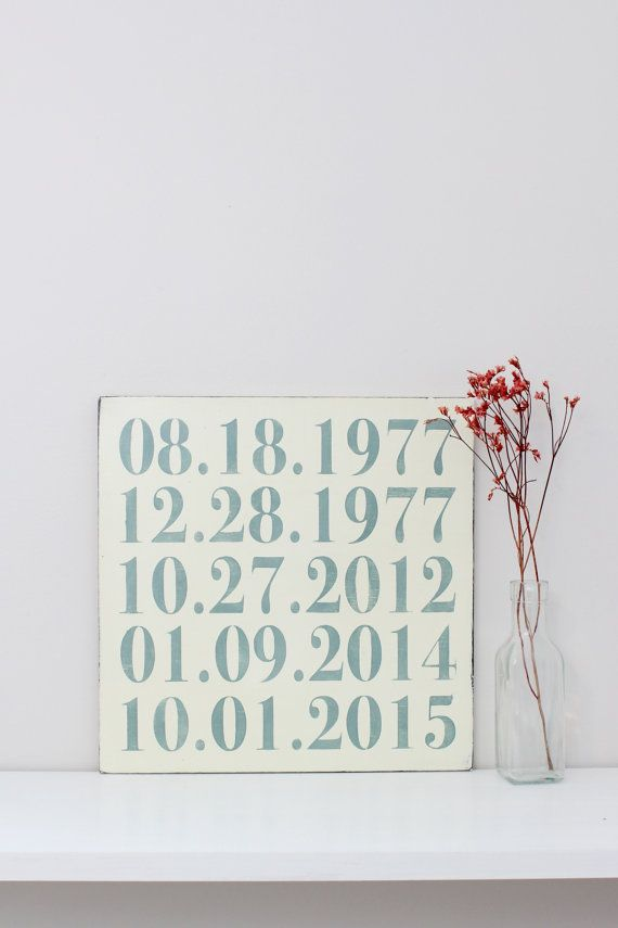 Important Dates Sign, Custom Date Sign, Personalized Date Sign, Anniversary Date, Birth Dates, Family Sign, Wood Wall Art, Wood Sign, Sign