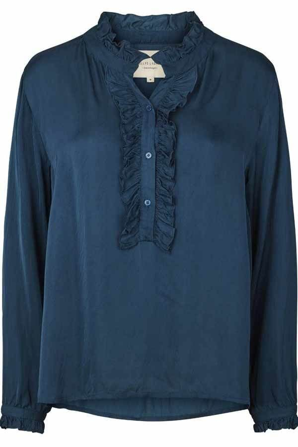 Lollys Laundry skjorte Franka Shirt, Blue