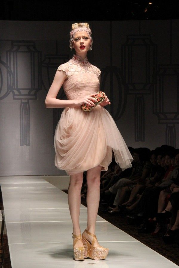 50's Silhouette on Shanghai Swing Fashion Show by Sebastian Gunawan