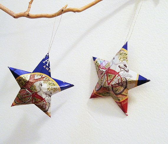 Fat Tire Beer Can Stars Christmas Ornaments on etsy at http://www.etsy.com/listing/108485190/fat-tire-beer-can-stars-christmas?ref=sr_gallery_3_includes%5B0%5D=tags_search_query=fat+tires_search_type=all_view_type=gallery