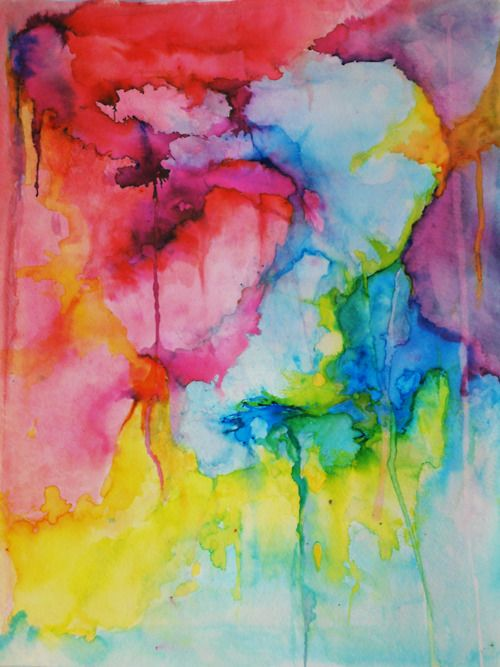 I always love seeing colours melt into each other, I love water colours.