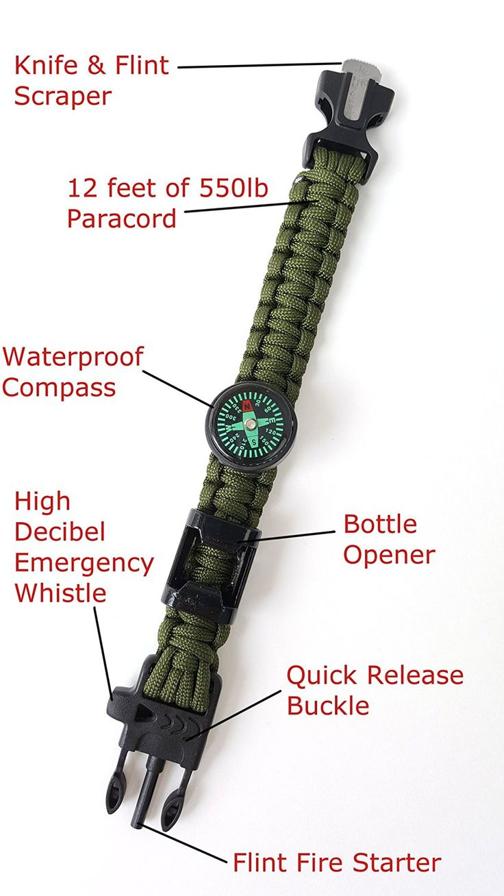Off-Grid Gear - Multifuntional Survival Paracord Bracelet with Updated Waterproof Compass -- Check this awesome item by going to the link at the image.