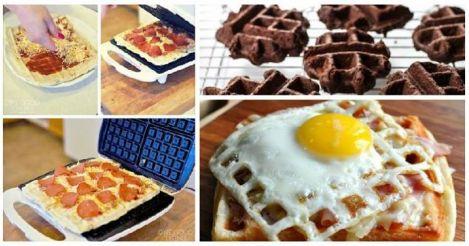 12 delícias que você nunca pensou em fazer num aparelho de waffles