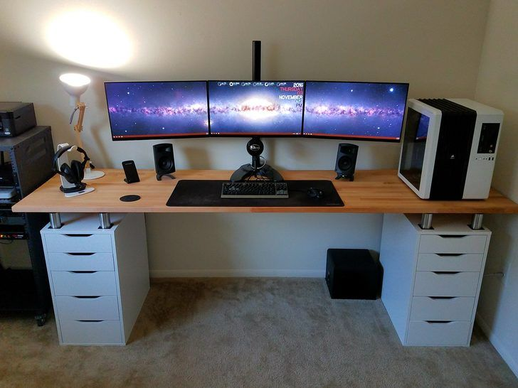 Best 25 gaming desk ideas on pinterest for Bureau gamer ikea