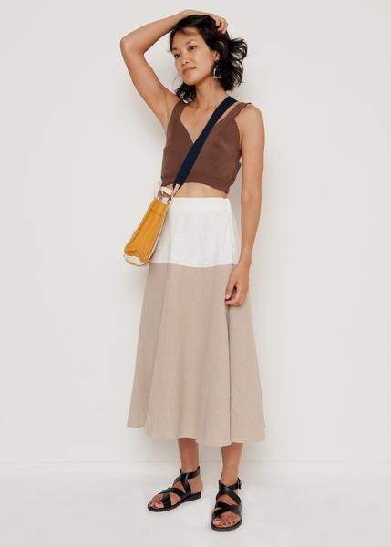Bicolor Beige Skirt – The Frankie Shop