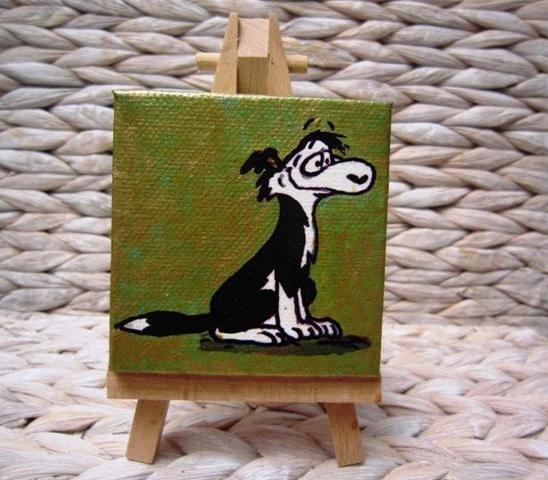 Dog on teal/Gold Footrot Flats Kiwiana Pocket by MandiiPopeArt, $31.23