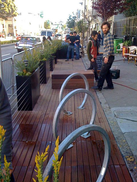 Divisadero Parklet - SF Pavement to Parks by jeremyashaw, via Flickr