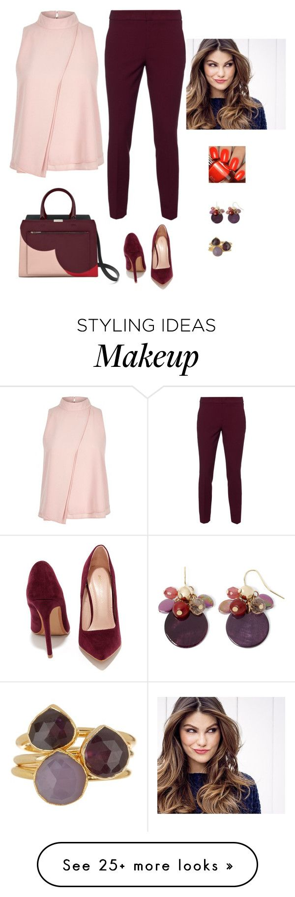 """""""Untitled #742"""" by azra-99 on Polyvore featuring River Island, RED Valentino, Shoe Republic LA, ULTA, Mixit and Janna Conner"""