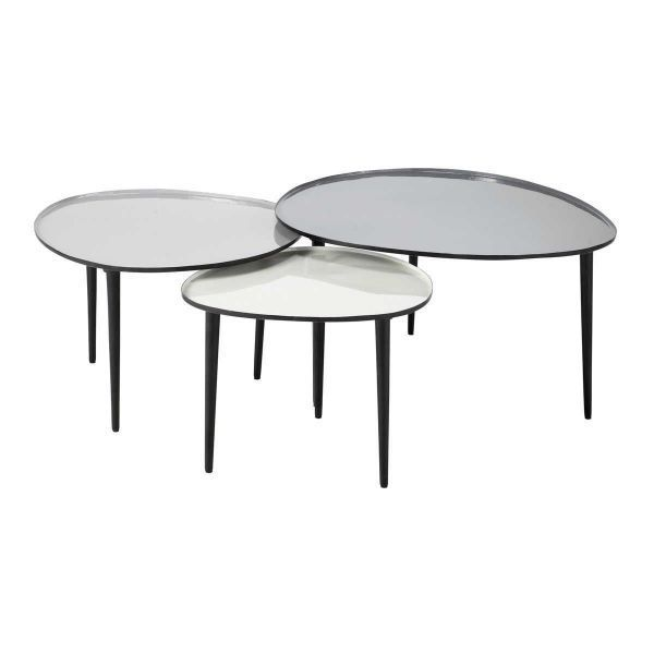 Nest Of Metal Tables Galet Galet Maisons Du Monde Us Nesting Coffee Tables Coffee Table Steel Frame Oval Wood Coffee Table