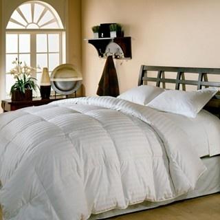 White down comforter.